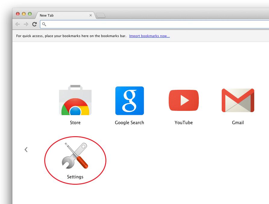 Settings · Chrome App